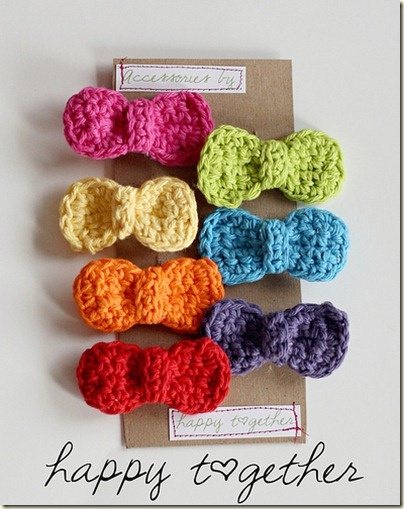 Crochet Hair Bows : Crocheted hair bows Crazy for crochet!! Pinterest