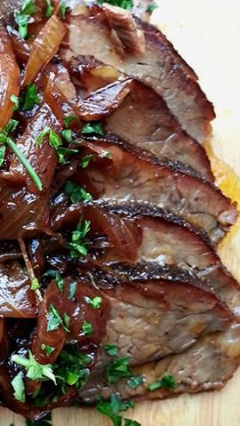 Beer Braised Brisket with Onion Jam | Delicious ^^☆ | Pinterest