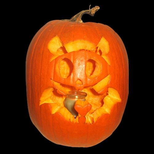 Bat skeleton pumpkin carving pumpkin carving contest for Skeleton pumpkin design
