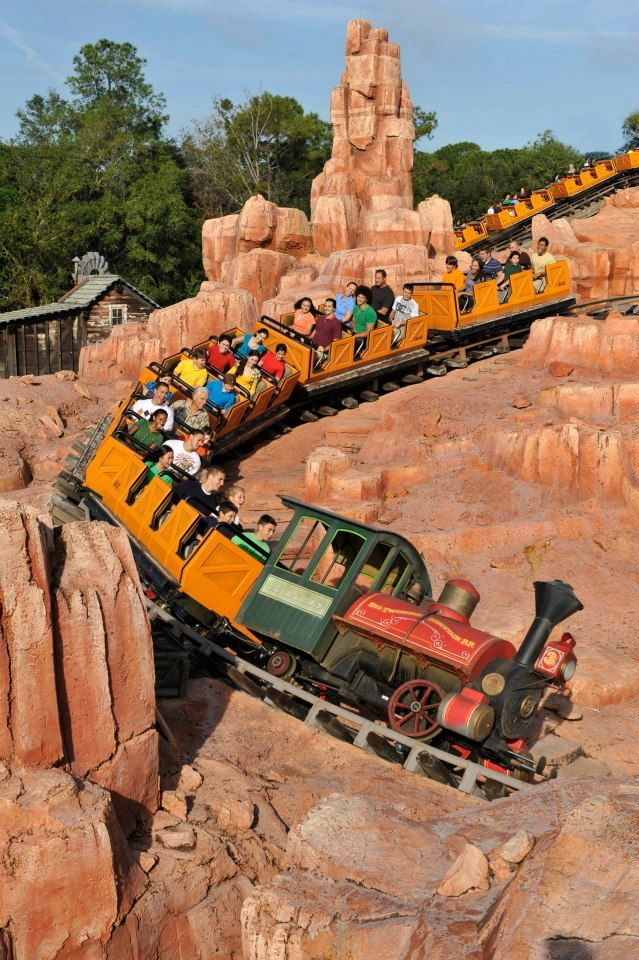 Big Thunder Mountain Railroad, Frontierland, Magic Kingdom, Walt ...