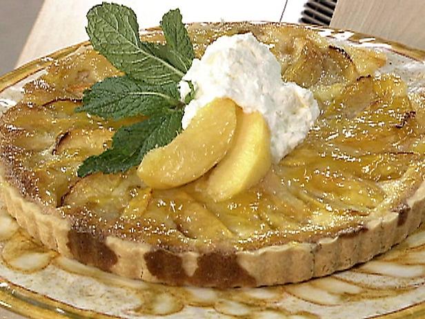 Paula Deen's peach cream tart. c