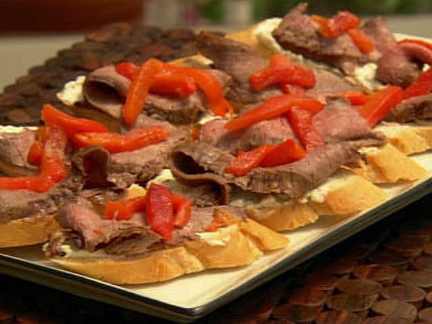 Molasses Marinated Flank Steak with Roasted Red Peppers from ...