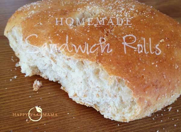 Homemade Sandwich Bread Buns at HappyGreenMama.com @DinkerGiggles ...