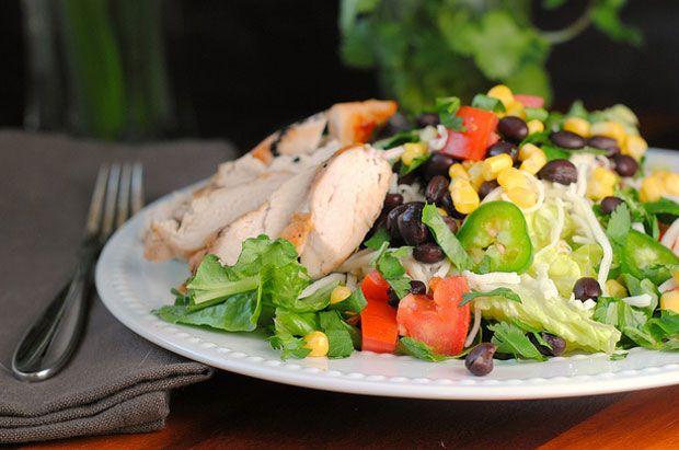 ... Salad with Avocado Buttermilk Dressing Recipe - RecipeChart.com