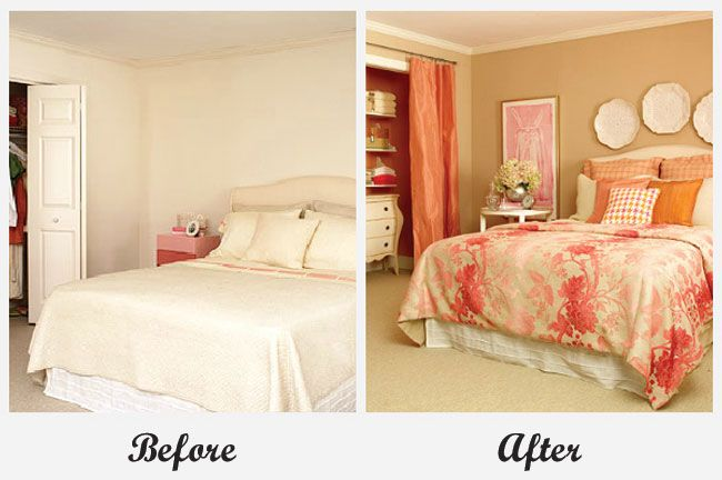 Room Makeover - Bedroom. For more great before and after room makeovers, check out http://decoratingfiles.com/2012/08/room-makeovers/#