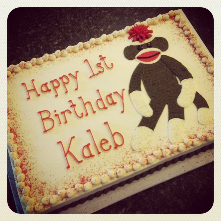 Sock Monkey Cake 1st Birthday Party Ideas Pinterest