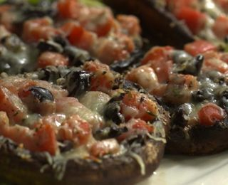 Tomato-&-Olive-Stuffed Portobello Caps | Diabetic Recipes | Pinterest