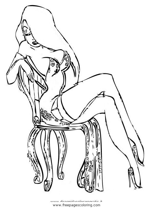 Jessica rabbit coloring coloring pages for Roger rabbit coloring pages