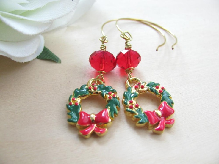 Jewelry christmas earrings christmas jewelry christmas wreath