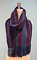 Woven His and Hers Scarves With One Warp