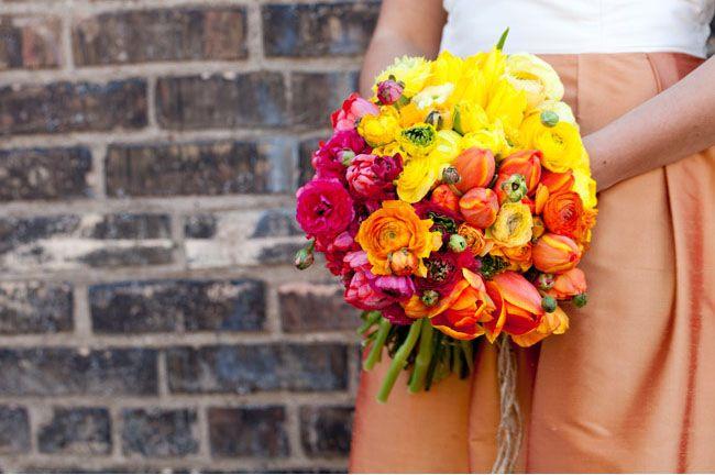 color block bouquet