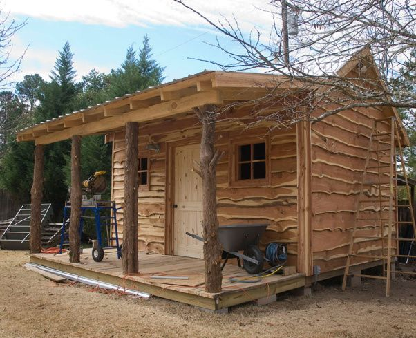 cedar plank siding uncut edges cabin rustic decor