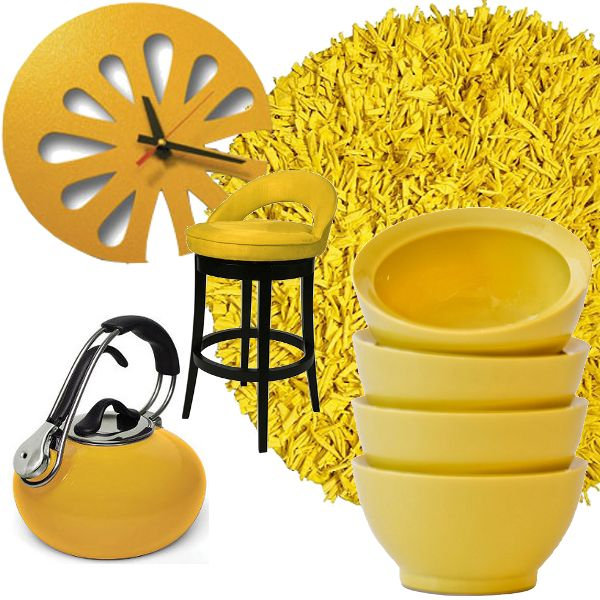 yellow kitchen decor from kitchen items pinterest