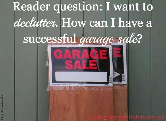 """Successful garage sale tips 