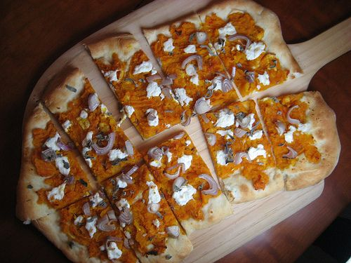 Butternut Squash Flatbread with Shallots, Ricotta, and Sage