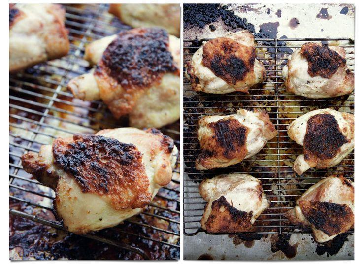 cider glazed chicken thighs