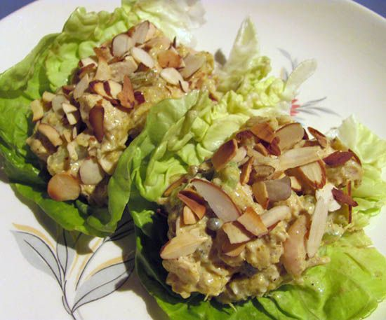 Mango Chicken Salad Lettuce Wraps | Sammies | Pinterest