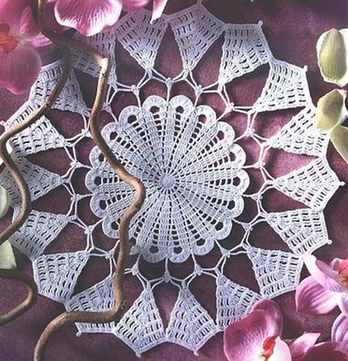 Free Knitting Pattern Lace Doily : Pin by Melanie Trimble on Crochet Pinterest