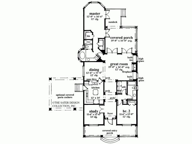 1 story narrow lot house plan house layout ideas for Narrow single story house plans