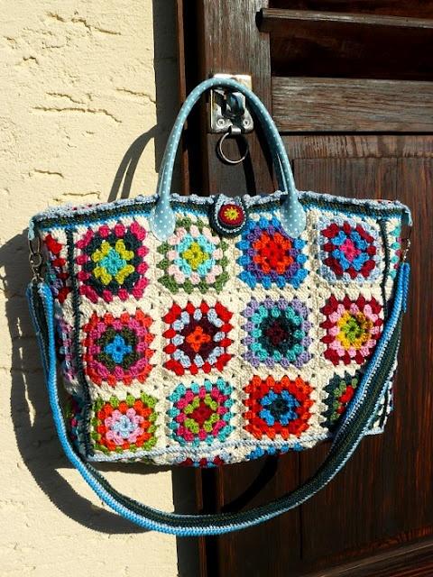 Crochet Granny Square Handbag : great Granny Square shopper