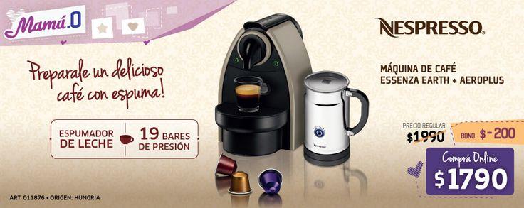 Cafetera express nespresso essenza flow pack