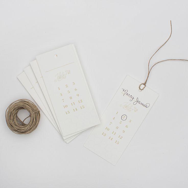 Honeycomb Escort Cards (25)