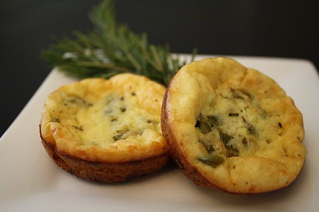 Mini Rosemary & Asparagus Quiche- make it gluten free by using the ...
