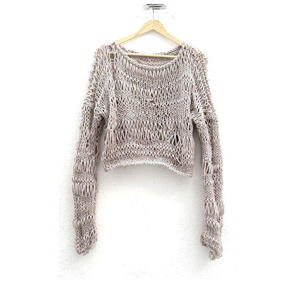 Loose Knitting Patterns : Loose Knit Sweater