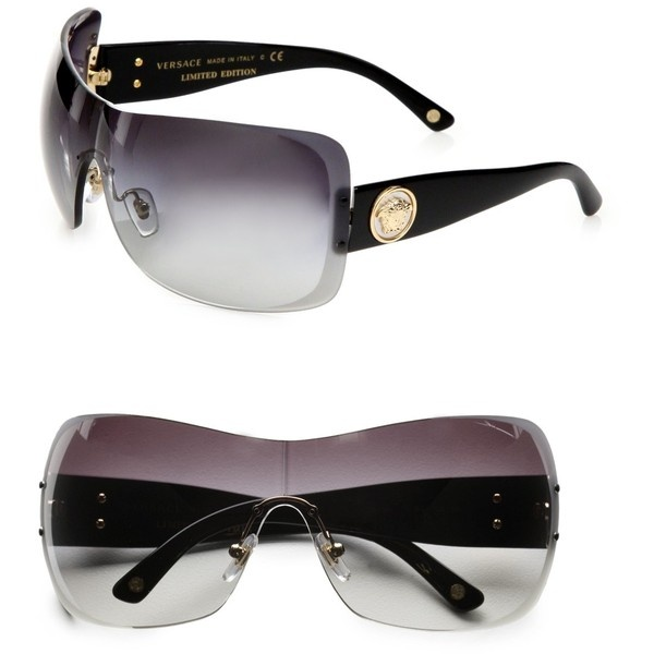 Versace Rimless Shield Sunglasses Products I Love ...