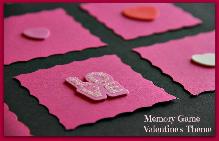 valentine memory game printable