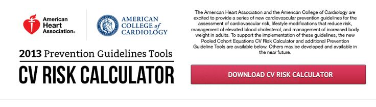 cardiovascular risk calculator download