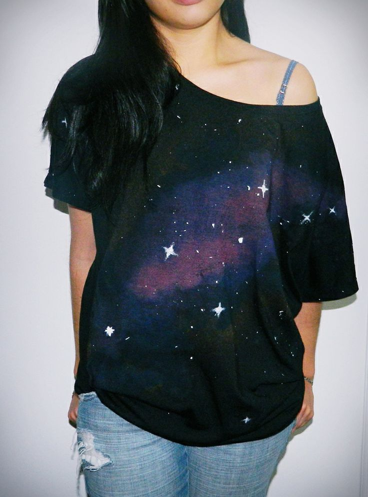 Diy galaxy t shirt does this make my butt look big for Galaxy white t shirts wholesale