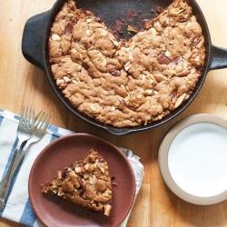 """Dark Chocolate and Hazelnut Skillet Blondies - Add """"dessert"""" to the..."""