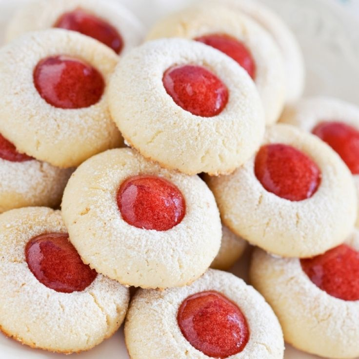 Almond Thumbprint Shortbread Cookies Recipe from Grandmother's Kitchen