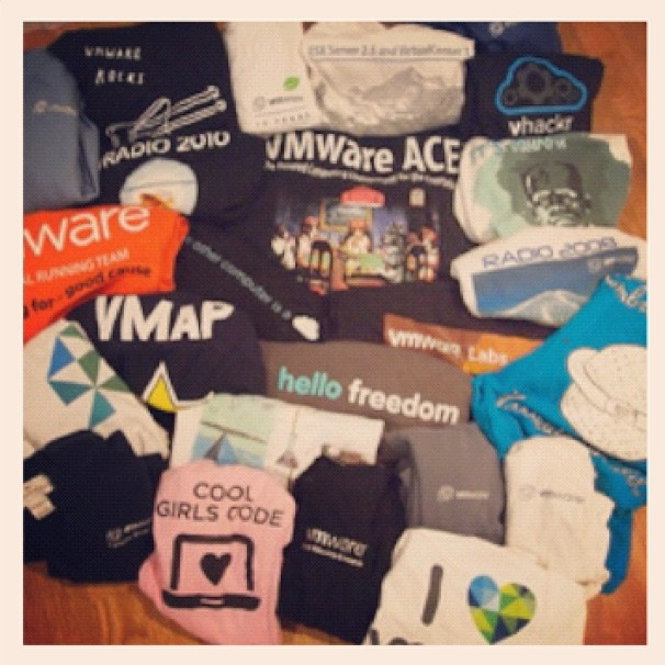 Rainy day closet cleaning unearths a vast array of VMware T's
