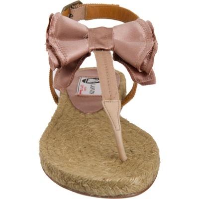 Lanvin Bow Espadrille Sandal in Beige Pink