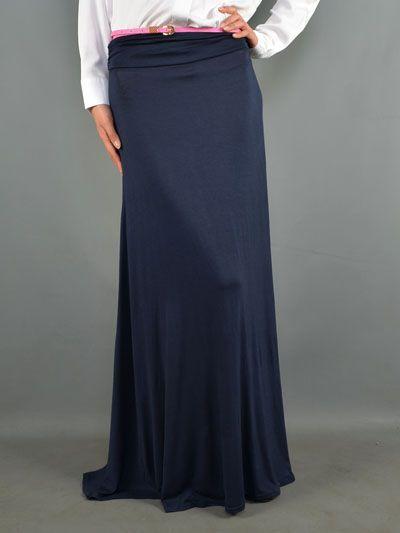 navy blue maxi skirt finch fall 2013