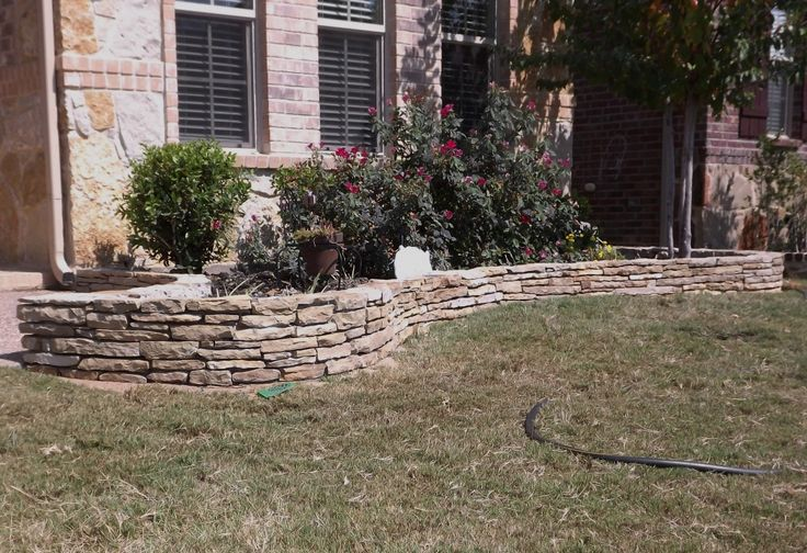 Pin by abbie bailey on yard pinterest for Flower bed edging stone