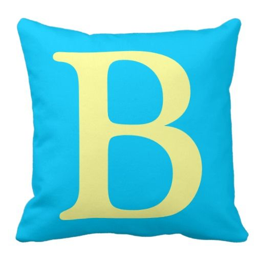 Throw Pillows With Letters On Them : Letter B throw pillow