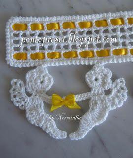 Ponto Preso1: Barrado da Norminha   Crochet   Pinterest
