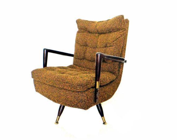 mid century modern swivel chair retro rocking chair danish lounge cha. Black Bedroom Furniture Sets. Home Design Ideas