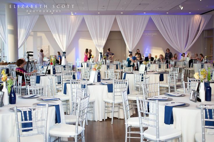 We can create custom drapes for your event!  Our custom work recently at a wedding at the Mint Museum Uptown.    Photo Credit: Elizabeth Scott Photography