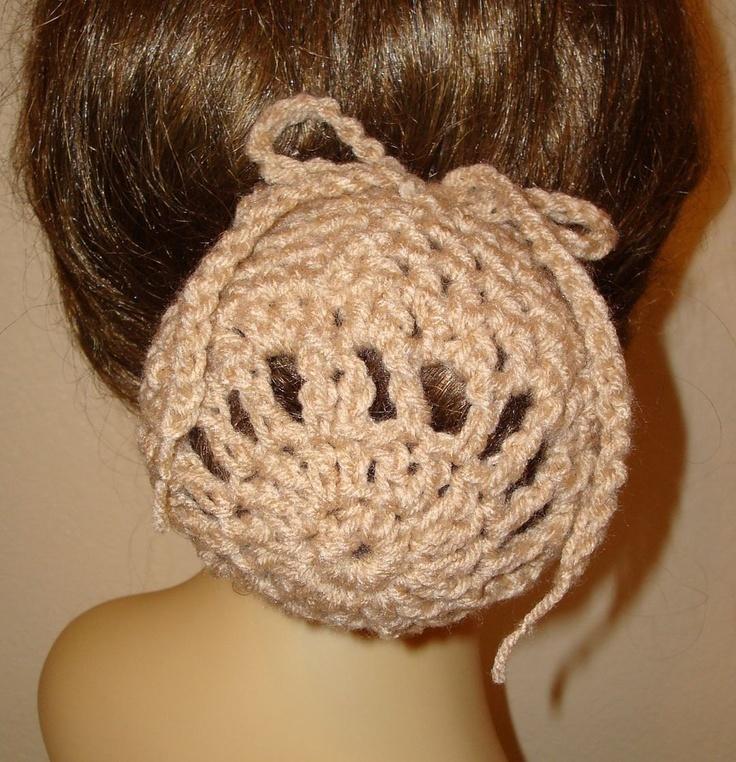 Crochet Snood : Pattern-Crochet Ballerina Large Bun Cover Snood Pattern(PDF Format Pa ...