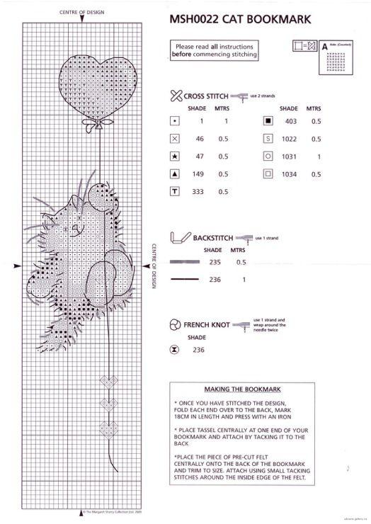 Вязание крестиком схемы