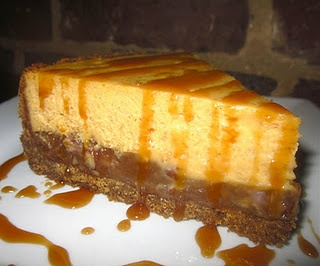 Pumpkin Pecan Pie Cheesecake with Gingersnap Crust