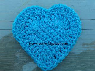 Crochet Patterns Visual : written and visual pattern crochet heart Crochet Pinterest