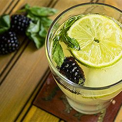 White Sangria - made with white wine, citrus, blackberries and a basil ...