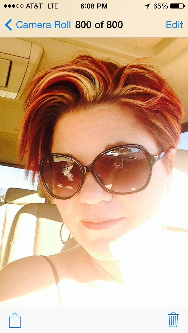 Red pixie with highlights | Hair | Pinterest