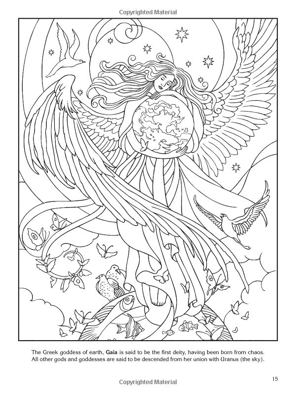 goddesses Colouring Pages