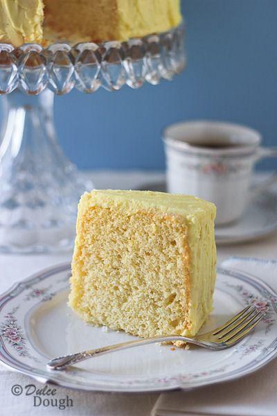 Lemon Chiffon Cake with Lemon Butter Icing | Recipe
